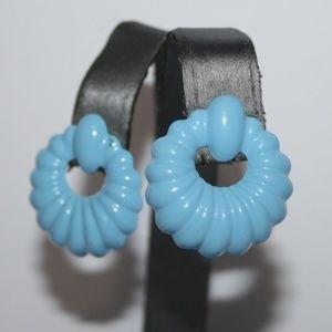 Beautiful blue vintage earrings